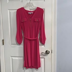 NWT Emma & Michele Hot Pink Mid Flowy Dress